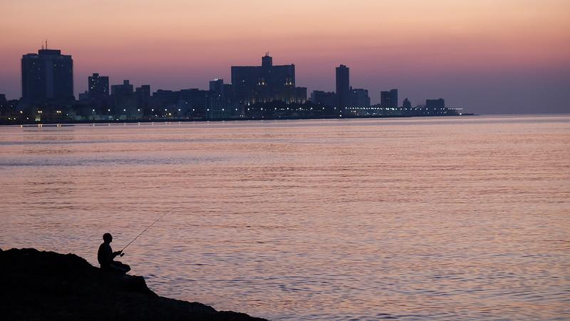 Havana sunset on the Malecon