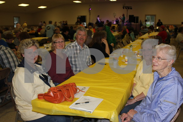 Sandy Whitte, Lori Carin, Dave Carlin, Linda Carlson, Paulyne Anderson all joining each other in supporting Sandy at her benefit.