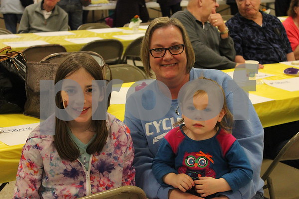 Carla Nemecheck spending time with her grandkids at the Sandy Mickelson Benefit.