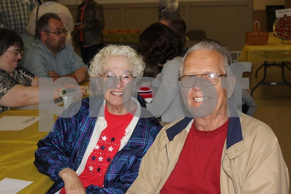 LaVon Rude and her husband Glenn Rude (neighbors of Sandy) come to support her tonight at her benefit.