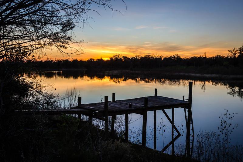 Sunset over Edwards Lake
