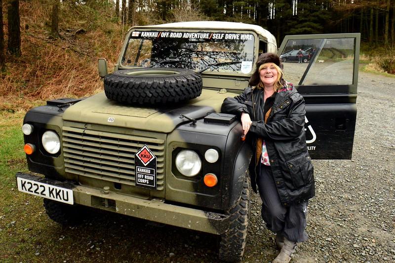 Sandy Kitching Kankku off-roading