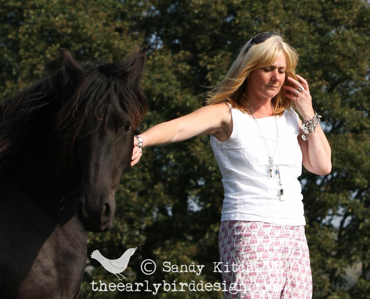 Sandy Kitching at Black Horses Friesians