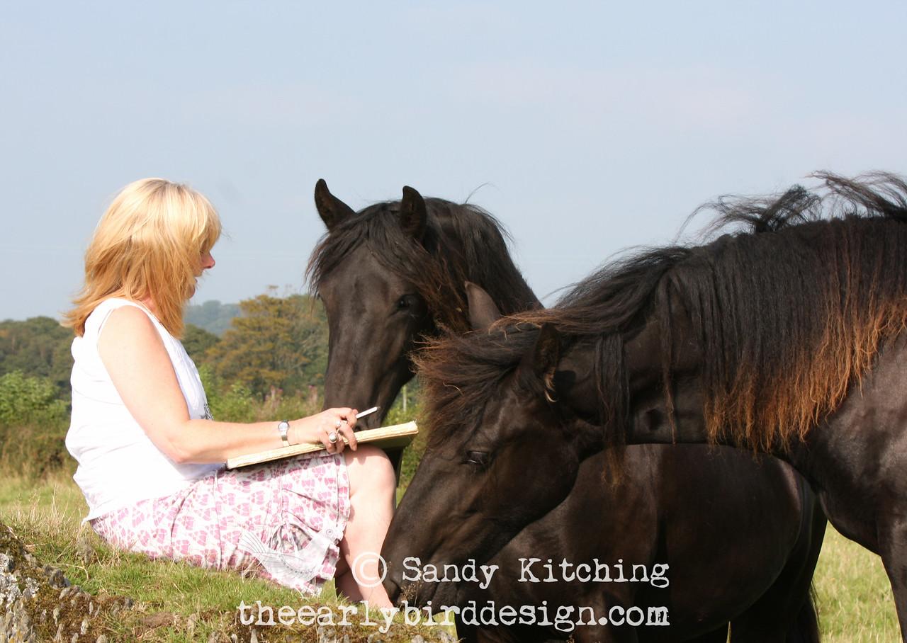 Sandy Kitching with Ischka & Inneka