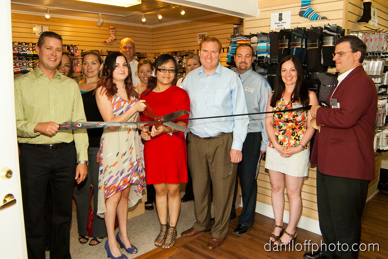 Sandy Area Chamber of Commerce ribbon cutting ceremony at All About Socks' new Sandy store, June 28, 2012.