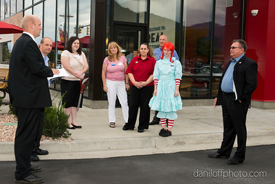 Wendy's Ribbon Cutting Ceremony - Sandy Area Chamber of Commerce