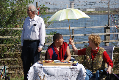 Sang Cho with Khenpo Tamdin Galveston 2008