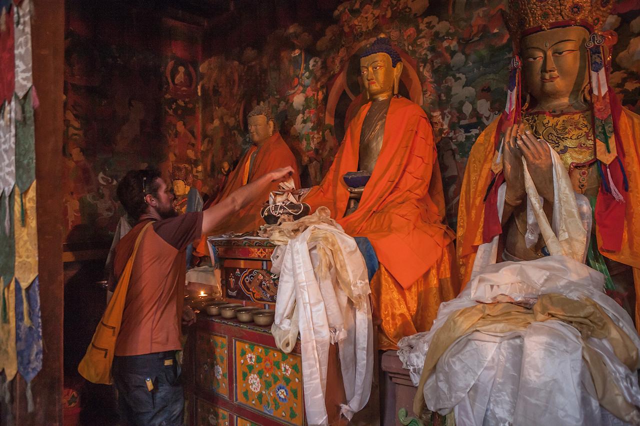 Inside Sani Monastery, Zanskar valley, India