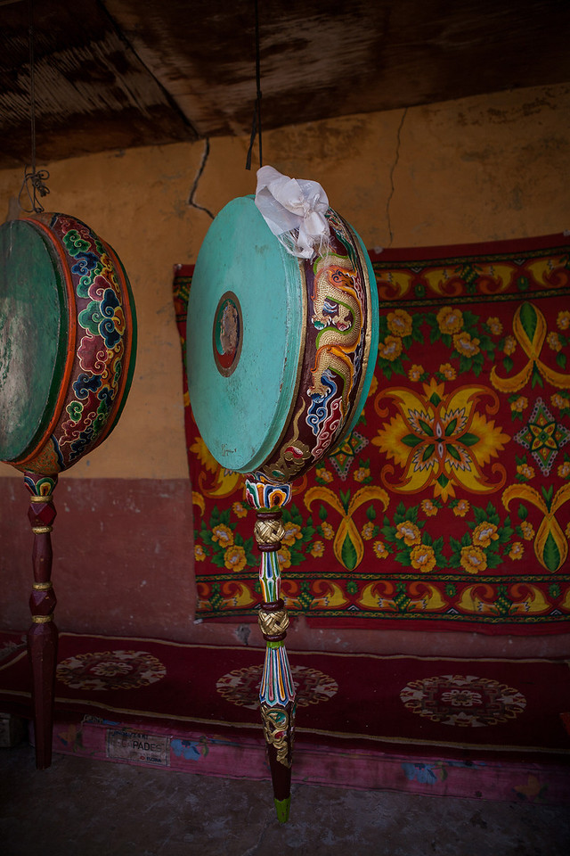 Inside Sani Monastery in Zanskar, India
