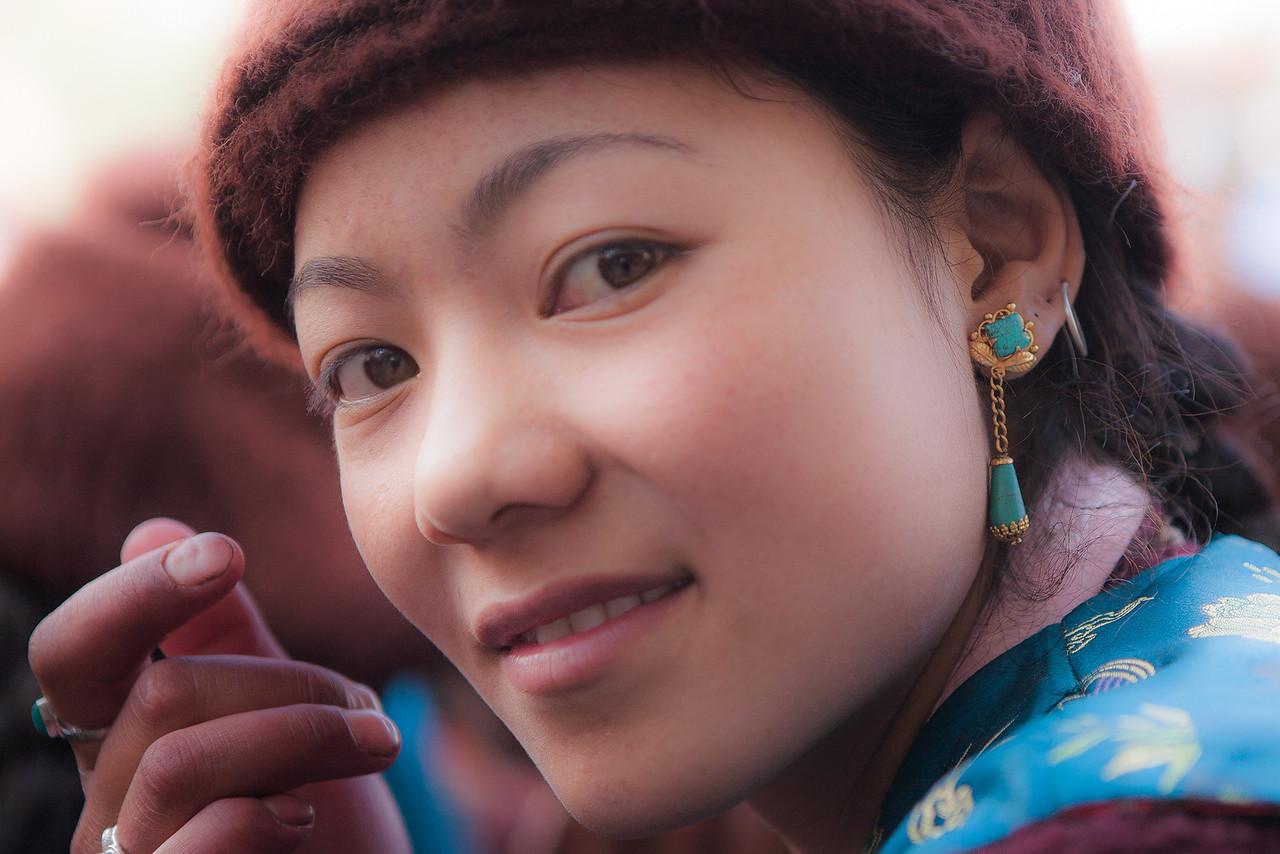 A Beautiful Girl from Sani, Zanskar, India