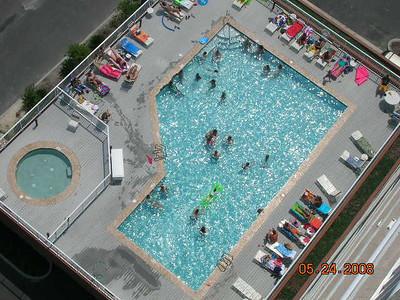 birds eye view of pool