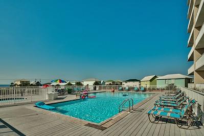 outdoor pool on 2nd floor