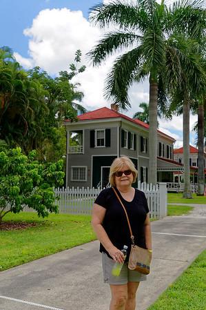 Janice Walking By Edison Estate