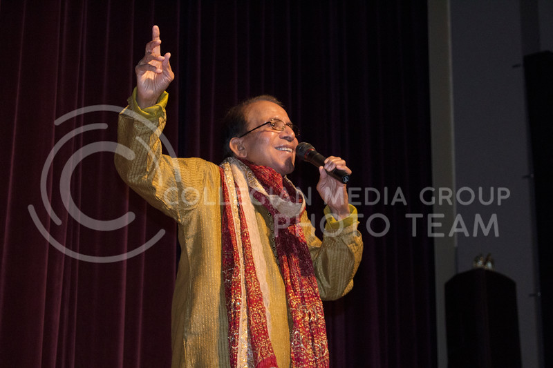 Harish Minocha, emeritus professor in the College of Veterinary Medicine, sang at Sanskriti on Nov. 4, 2017. (Tiffany Roney | Collegian Media Group)