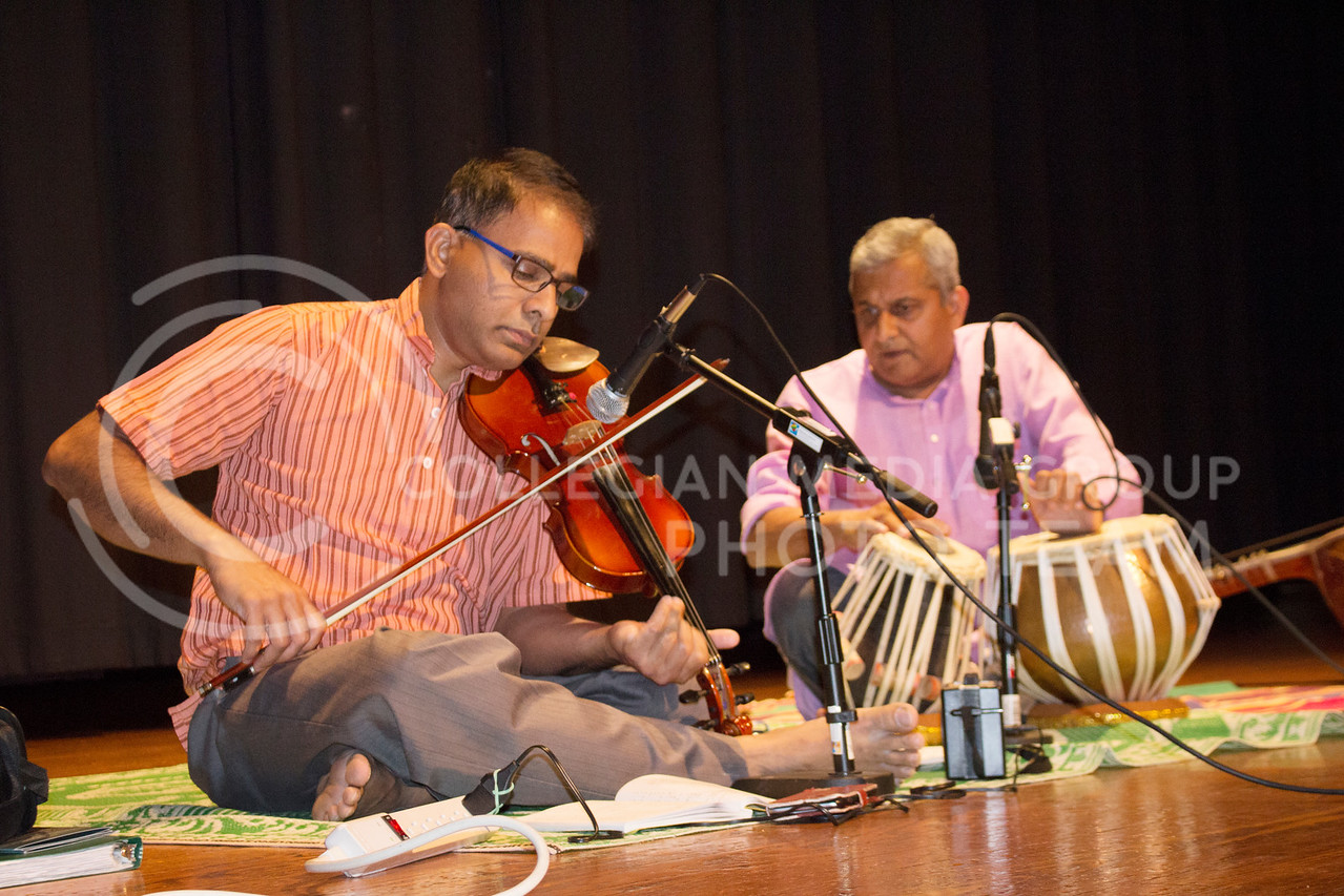 performed classical Indian music at Sanskriti on Nov. 4, 2017. (Tiffany Roney | Collegian Media Group)