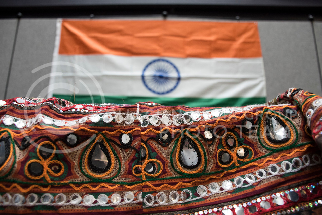 Beautiful traditional clothing was put on display at Sanskriti organized by the Indian Students Association at the Kansas State Student Union in Manhattan, KS, on Nov. 4, 2017. (Olivia Bergmeier | Collegian Media Group)
