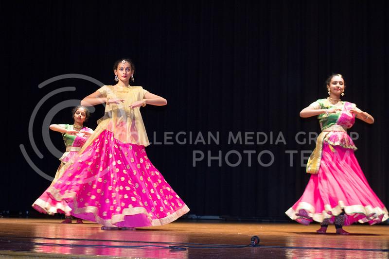 The Soorya Kathak group performed at Sanskriti in Forum Hall on Nov. 4, 2017. (Tiffany Roney | Collegian Media Group)