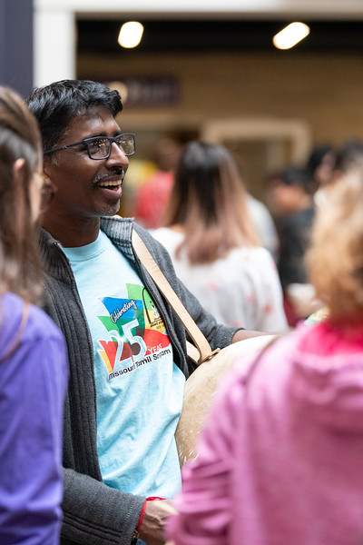 On Saturday the Union courtyard was filled with music and dancing as part of Sanskriti 2018, hosted by the Indian Students Association. (Alex Todd | Collegian Media Group)