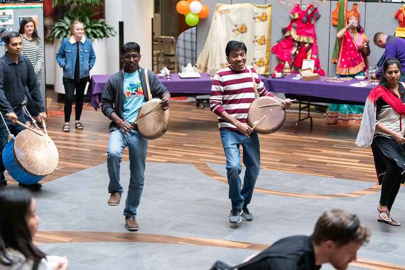 Hosted in the Union courtyard on November 3, 2018, Sanskriti offered many things to do and see, including a dance workshop. (Alex Todd | Collegian Media Group)