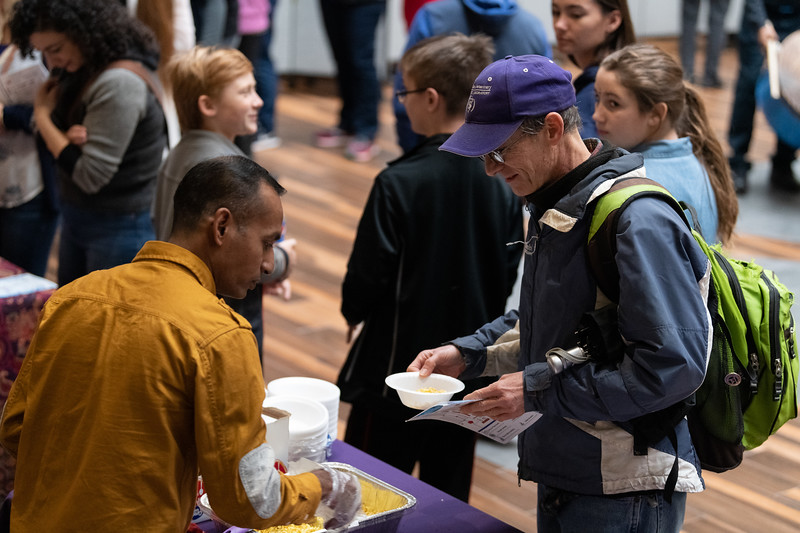 As part of Sanskriti 2018, authentic Indian foods were available for guests to try in the Union courtyard on November 3, 2018. (Alex Todd | Collegian Media Group)