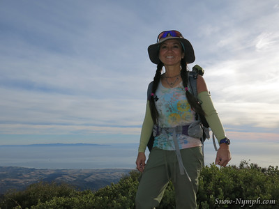 2014 (Jan 11) Santa Ynez Pk (x1) & Broadcast Pk (x2) from Hwy 154, on the Tequepis Cyn Trail