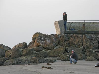 Nick ponders the sea.