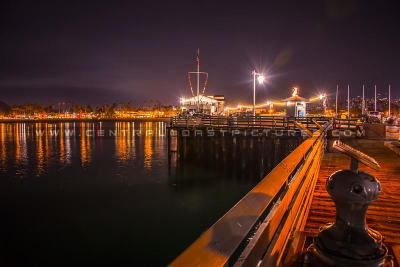 santa barbara pier night-1671