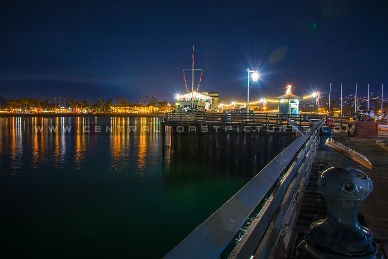 santa barbara pier night-1674