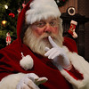 Santa Claus Saying SHHH Quiet Picture
