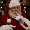 Santa Claus Saying SHHH Quiet Picture