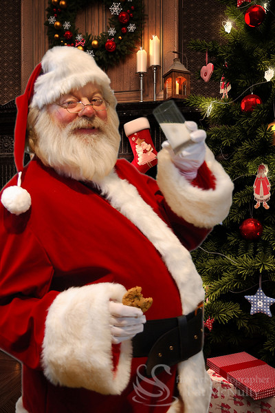 Santa Claus Loves Cookies and Milk Photo