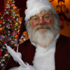 Santa Claus Feather Pen Picture