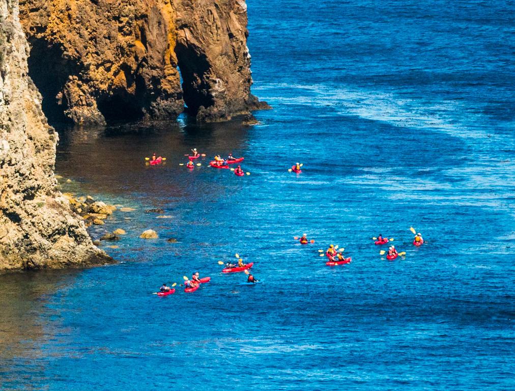 Kayaking at Cavern Point