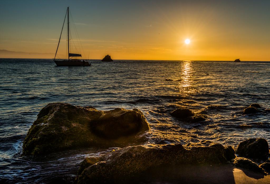 Scorpion harbor sunrise