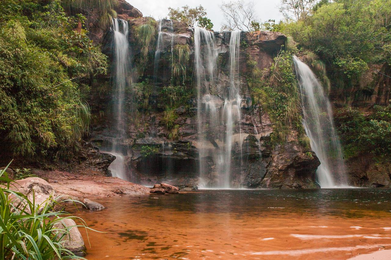 Waterfalls at Cuevas in Samaipata, Bolivia