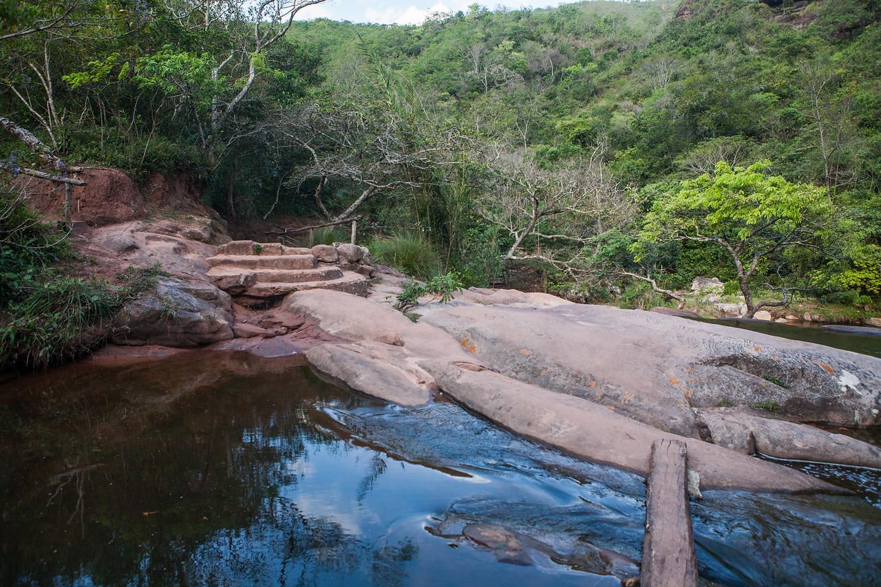 Lake at the waterfalls at Cuevas in Samaipata, Bolivia