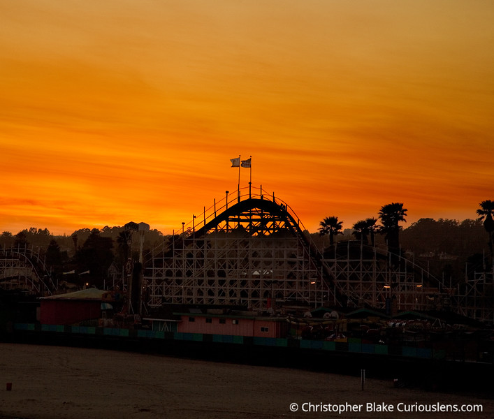 Roller coaster Sunset