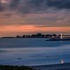 Santa Cruz Lighthouses at Sunset