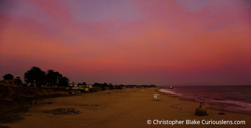 Sunset over beach 2