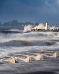 Storm at Walton Lighthouse