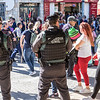 A new feature of Santa Faz this year was the heavy presence of security forces, beyond the usual police officers deployed for crowd control purposes. After the various Islamist terror attacks around Europe (including in Spain) in recent years, this is understandable.
