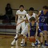 The second quarter of the Santa Fe Indian School vs East Mountain High School at Santa Fe Indian School on Feb 20, 2018. Luis Sánchez Saturno/The New Mexican