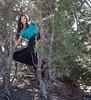 Esme, Tall Mesquite, near Lamy, NM