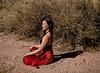 Hannah, Dry Creekbed, near Lamy, NM