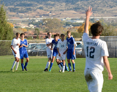 Santa Fe Prep - Bosque New Mexico State High School class A/4A boys soccer championship match played at the New Mexico Soccer Tournament Complex in Bernalillo Saturday, November 5, 2016. Clyde Mueller/The New Mexican