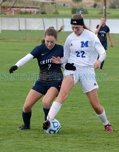 The third-seeded Lady Horsemen jumped out to an early lead, but had to rally for a 3-2 victory over the No. 6 Blue Griffins in the quarterfinals of the Class 1A/4A state tournament at the Bernalillo Soccer Complex. Read more: http://sfnm.co/2fCJLtE
