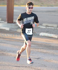 Eighty-six athletes ranging age 17 to 78 years old participated in the ninth annual 2016 City of Santa Fe Triathlon held at and around the Genoveva Chavez Community Center facility covering a distance of Run 3.1 miles, Bike 12 miles and Swim 400 meters Saturday morning August 13, 2016. Clyde Mueller/The New Mexican