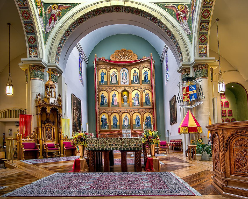 The Cathedral Basilica of St. Francis of Assisi. Santa Fe, New Mexico