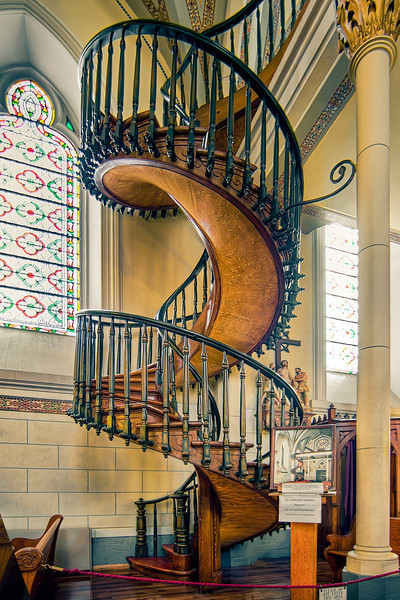 Loretto Chapel and the miraculous staircase. Santa Fe, New Mexico
