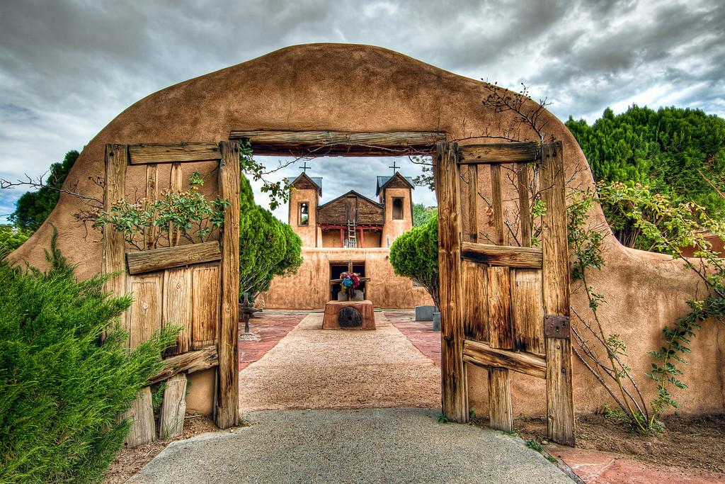 El Santuario De Chimayo.  Chimayo, New Mexico.